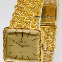 Omega DeVille 18k Yellow Gold 24J Automatic Ladies Bracelet Watch