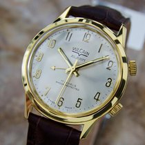 Vulcain Alarm Watch Rare Made In Switzerland 1970s Mens Gold...