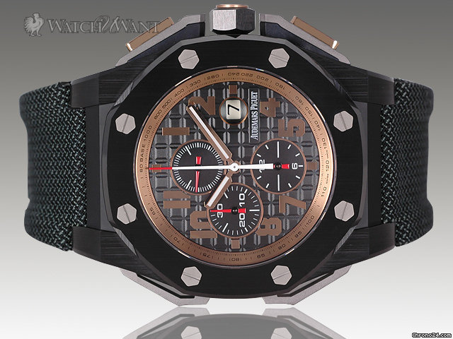 Audemars Piguet AP Royal Oak Offshore Arnold Schwarzenegger The Legacy Chronograph - SPECIAL LIMITED EDITION (only 1500 Pcs) - 48mm Ceramic Case &amp;amp; Pink Gold Accents - Brand New In Box