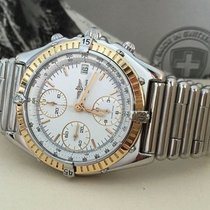 Breitling Chronomat Rouleauxband Gold Steel White Dial (39 mm)