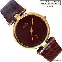 Cartier MUST DE CARTIER VERMEIL RONDE GOLD PLAQUE