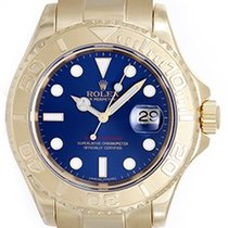 勞力士 (Rolex) Yacht-Master Men's 18k Yellow Gold Watch Blue...