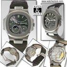 Patek Philippe Nautilus 18k White Gold Mens Automatic Watch