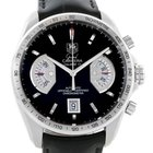 TAG Heuer Grand Carrera Black Leather Strap Automatic Mens...