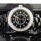 Chanel J12 38mm Black - Diamond dot dial/Diamond Bezel