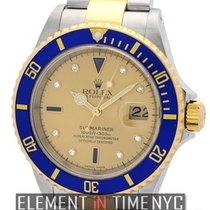 Rolex Submariner Steel & Gold Champagne Diamond &...