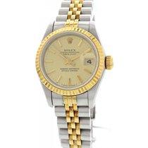 Rolex Ladies Rolex DateJust Stainless Steel 18K Yellow Gold...