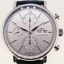 IWC Portofino Chronograph Silver Plated White Dial [ LIKE NEW ]