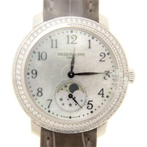 Patek Philippe New  Complications 18k White Gold Silver Manual...