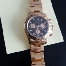 Rolex BEST PRICE Daytona Rose Gold Black Dial 116505