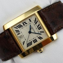 Cartier Tank Francaise Automatic - Gold 750 - 1840 - inkl. Box