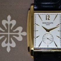 Patek Philippe Mens Gondolo 18k Yellow Gold Watch & Box 5124J