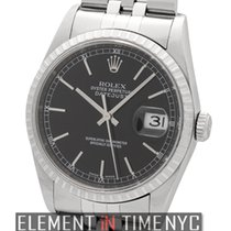 Rolex Datejust Stainless Steel 36mm Black Index Dial D Serial...
