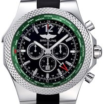Breitling Bentley GMT Black Dial Black Rubber Men's Watch...