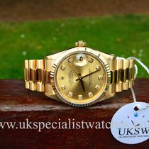 Rolex DateJust 18ct Yellow Gold President – 31mm Mid Size –