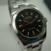 Rolex 116400V Millgauss Anniversary green crystal w/card &...