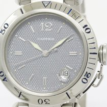 Cartier Polished Cartier Pasha 38 Steel Automatic Mens Watch...