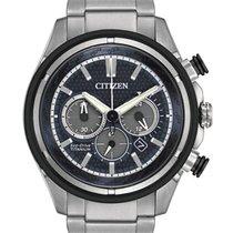 Citizen Eco-Drive Mens Super Titanium Chronograph - Blue Dial...