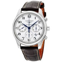 Longines Master Chronograph Automatic Silver Dial Mens Watch...