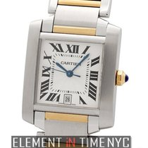 Cartier Tank Collection Tank Francaise Steel and Gold Large...