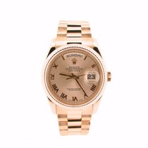 Rolex 18k Gold Day-date President Rose Roman 118235