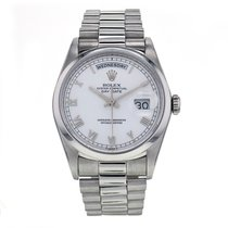 Rolex Day-date Platinum Automatic White Dial Men's Watch...