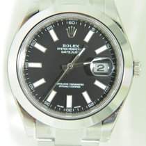 Rolex II 41MM Steel,smooth bezel,black dial index,Box papers