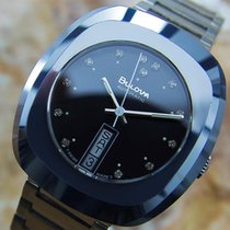 Bulova Date Automatic Swiss Made Rare Tungsten Vintage Mens...