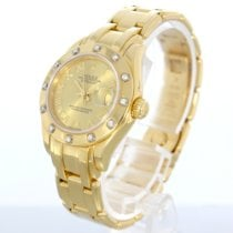 Rolex Lady-datejust Pearlmaster In Gold Mit Brillanten