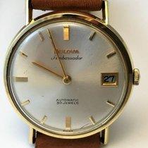 Bulova Ambassador automatic watch, 18 kt gold casing