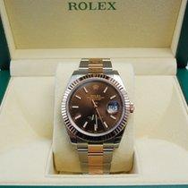 Rolex DateJust TuTone 18kt RG/SS Chocolate Dial-126331