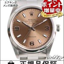 Rolex 【ロレックス】エアキング プレシジョンメンズ腕時計 自動巻きオートマ ブロンズ文字盤シルバー ステンレス1400...