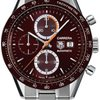 TAG Heuer Carrera Chronograph Steel Brown Mens Watch CV2013.BA...