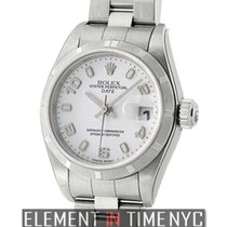 Rolex Oyster Perpetual Date 26mm Steel Engine Turned Bezel...