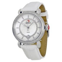 Michele CSX Elegance Mother off Pearl White Leather Ladies Watch