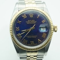 Rolex Datejust 36mm Two Tone Jubilee Fluted Blue Roman Dial