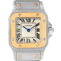 Cartier Santos Galbee Ladies Steel Yellow Gold Watch W20012c4...