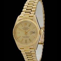 Rolex Datejust -Borke- Lady - Ref.: 6927 - 18 Karat Gelbgold -...