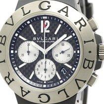 Bulgari Polished  Diagono Chronograph Titanium Carbon Watch...