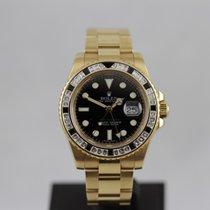 Rolex GMT Master II Yellow Gold Diamond Bezel 116748