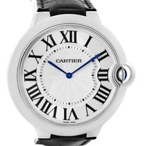 Cartier Ballon Bleu Xl 18k White Gold Mens Watch W6920055