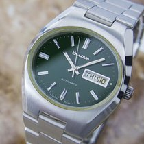 Bulova Double Date Automatic Swiss Made Watch Circa 1970 (d27)