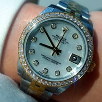 Rolex Datejust Oyster Perpetual Gold And Steel With Diamonds -...
