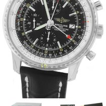 Breitling Navitimer World GMT Stainless Black 46mm A24322...