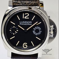 Panerai Luminor 8 Day Power Reserve Steel Mens Watch Box/Paper...