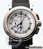Breguet Marine Automatic Chronograph (WG / Silver / Rubber Strap)