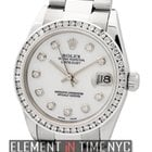 Rolex Datejust 31mm Stainless Steel Diamond Bezel MOP Diamond...