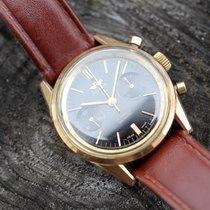 Royce Handaufzug Chronograph Black dial vergoldet