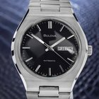 Bulova Jumbo Automatic Mens 1970s Stainless Steel Day Date...