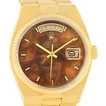 Rolex Oysterquartz President Day Date Yellow Gold Wood Dial 19018